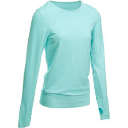 Naadloos T-shirt Yoga+ met lange mouwen voor dames