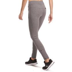 Molton damesbroek met ritsen onderaan, voor gym en pilates - 992965