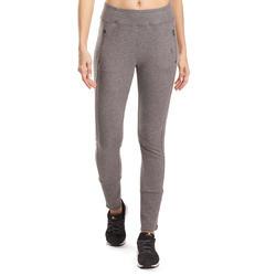 Molton damesbroek met ritsen onderaan, voor gym en pilates - 992969