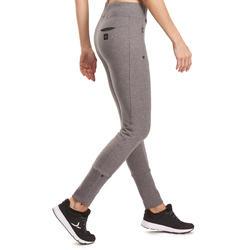 Molton damesbroek met ritsen onderaan, voor gym en pilates - 992971