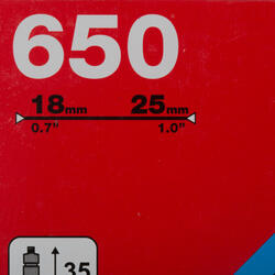 Binnenband 650X18/25 Presta-ventiel 35 mm - 993071