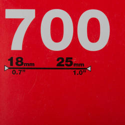 Binnenband 700x18/25 Presta-ventiel 80 mm - 993075