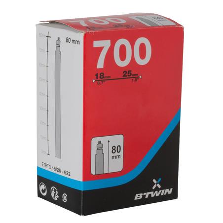 700x18/25 80 mm Presta Valve Inner Tube