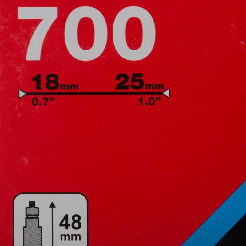 CÁMARA DE AIRE 700x18/25 PRESTA 48 mm