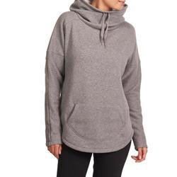 Damessweater 500 voor relaxatie bij yoga gemêleerd