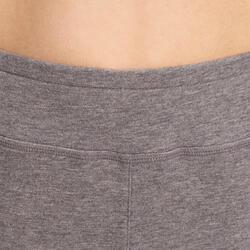Molton damesbroek met ritsen onderaan, voor gym en pilates - 993156