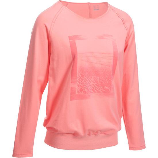 Yoga T-shirt in biokatoen voor dames - 993319