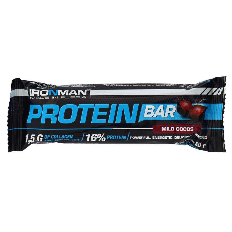 БАТОНЧИКИ, ГЕЛИ И ПРОДУКТЫ ПОСЛЕ СПОРТА Спортивное питание - Прот. бат. Ironman 16% кокос IRONMAN - Спортивное питание