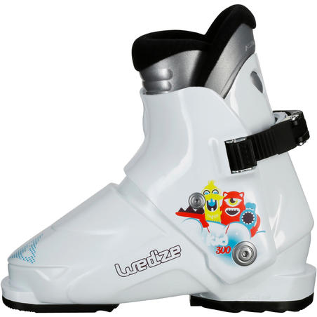 CHILDREN'S SKI BOOTS 100 - WHITE