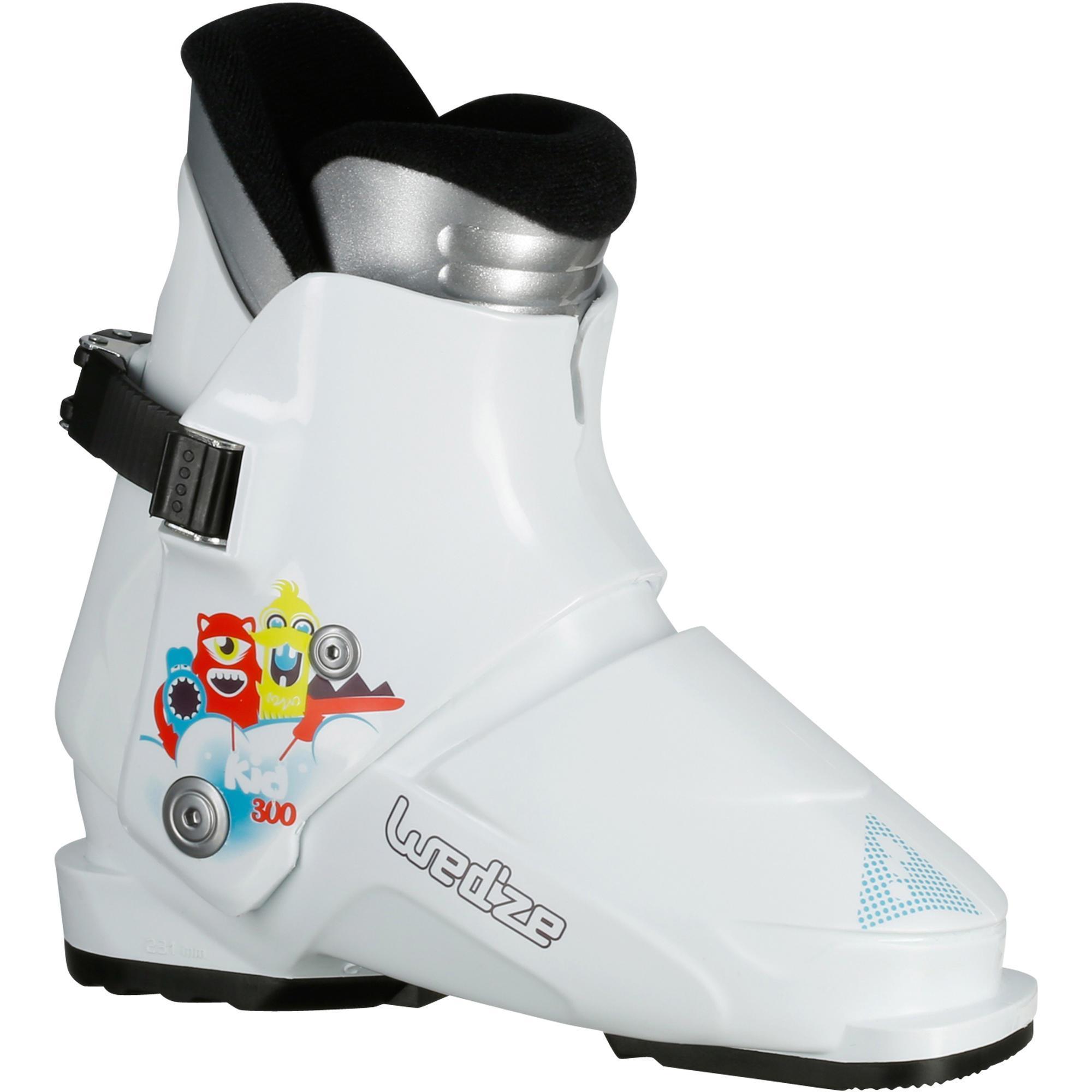 chaussures de ski enfant kid 300 blanches wedze. Black Bedroom Furniture Sets. Home Design Ideas