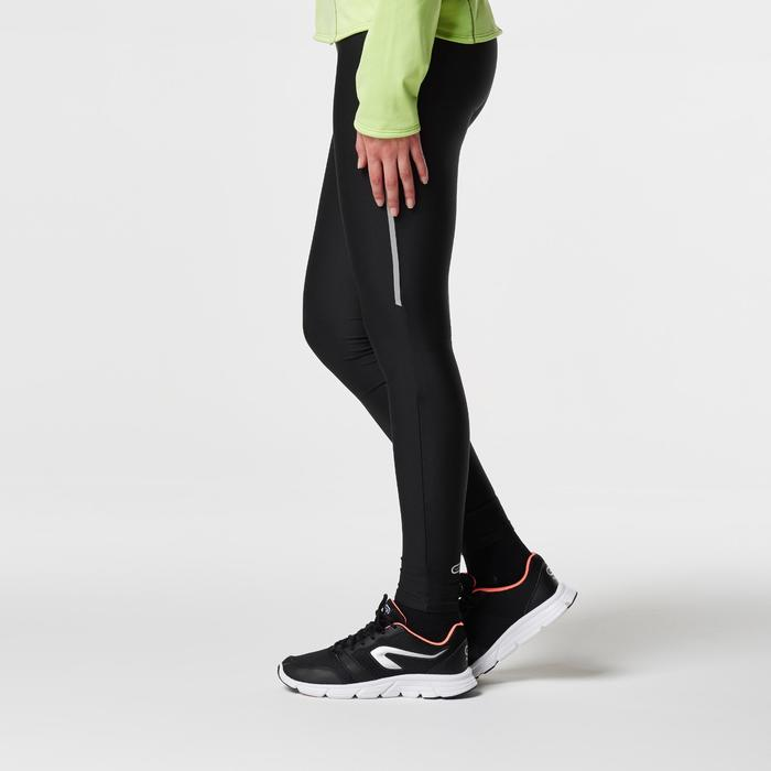 Mallas Largas Leggings Deportivos Running Kalenji Run Dry Mujer Negro