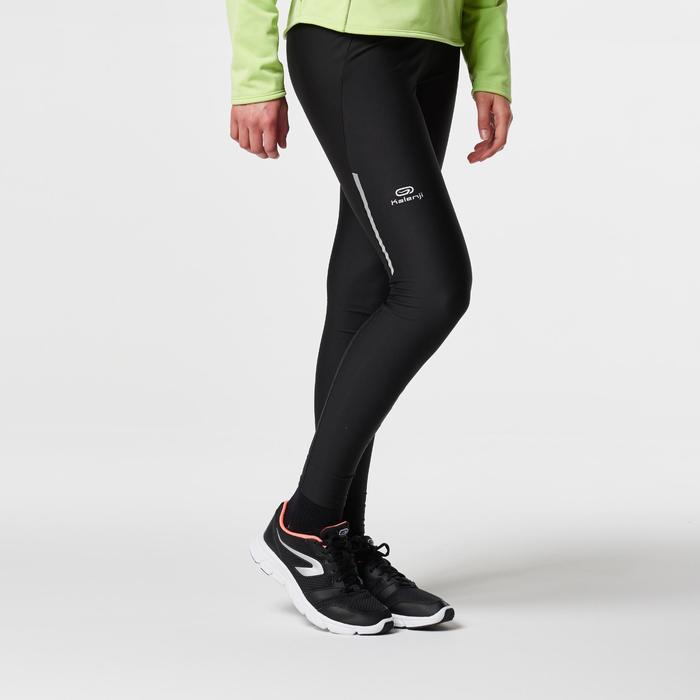 女款慢跑緊身褲Run Dry - 黑色