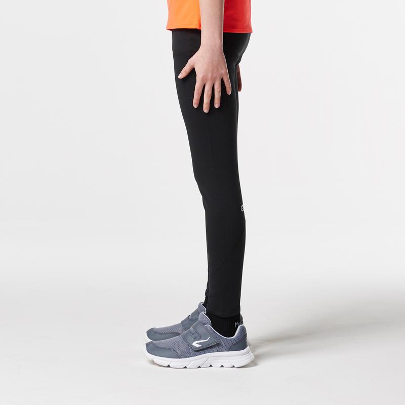 Calzas largas de atletismo niños run warm negro