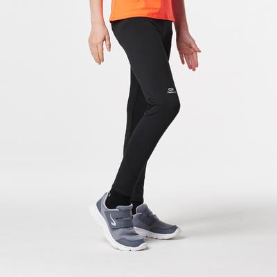 leggings largos de atletismo júnior run warm negro