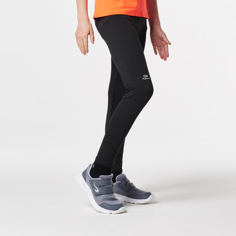 run warm children's athletics tights - black