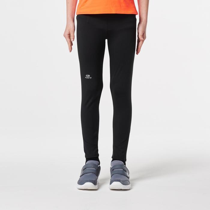 mallas largas de atletismo júnior run warm negro