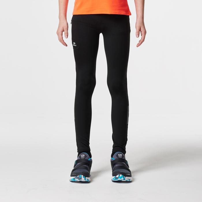 collant athlétisme enfant run dry noir
