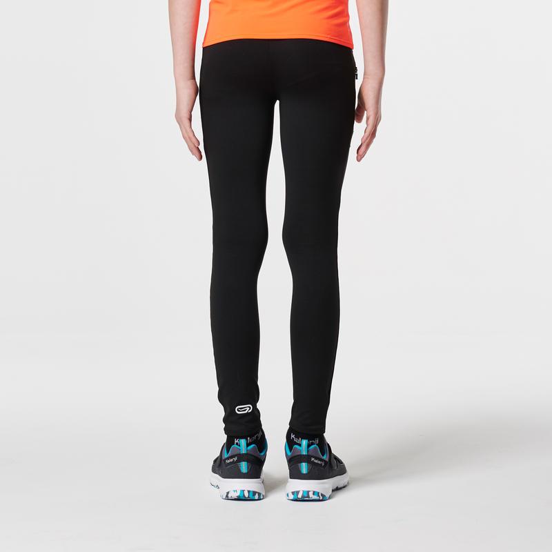 Calzas largas atletismo niños run dry negro