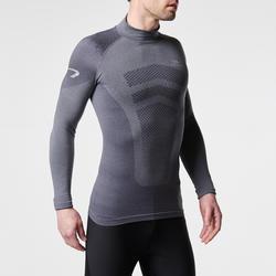 Loopshirt met lange mouwen voor heren Kiprun Skincare grijs - 995574