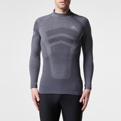 Loopshirt met lange mouwen voor heren Kiprun Skincare grijs - 995576