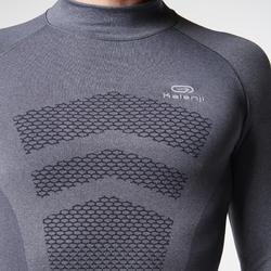 Loopshirt met lange mouwen voor heren Kiprun Skincare grijs - 995577