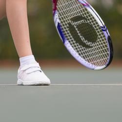 TS100 Grip Kids' Tennis Shoes - White/Pink