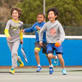 Tennisschoenen voor kinderen Artengo TS160 blauw regenboog - 995696