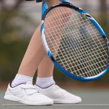 Tennisschoenen voor kinderen TS100 Grip wit/blauw Artengo