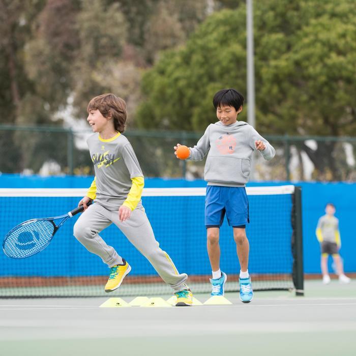 Essential 500 Junior Badminton and Tennis T-Shirt - Navy/Yellow - 995732