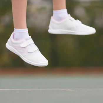 Tennisschoenen voor kinderen Artengo TS100 Grip wit roze