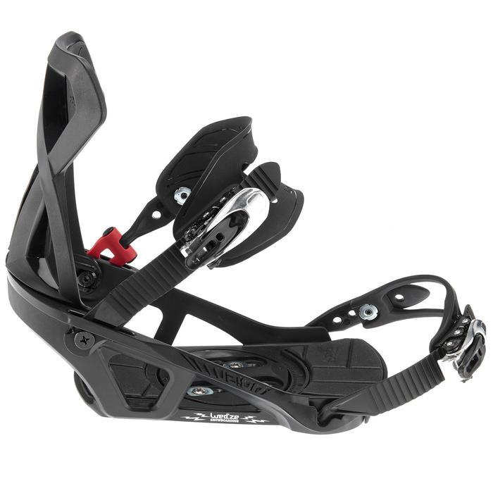 Fixations de snowboard homme et femme Illusion 400 noires - 995812