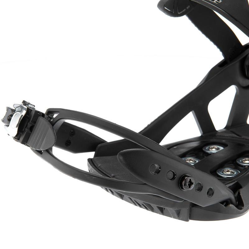 Illusion 400 Unisex Snowboard Bindings - Black