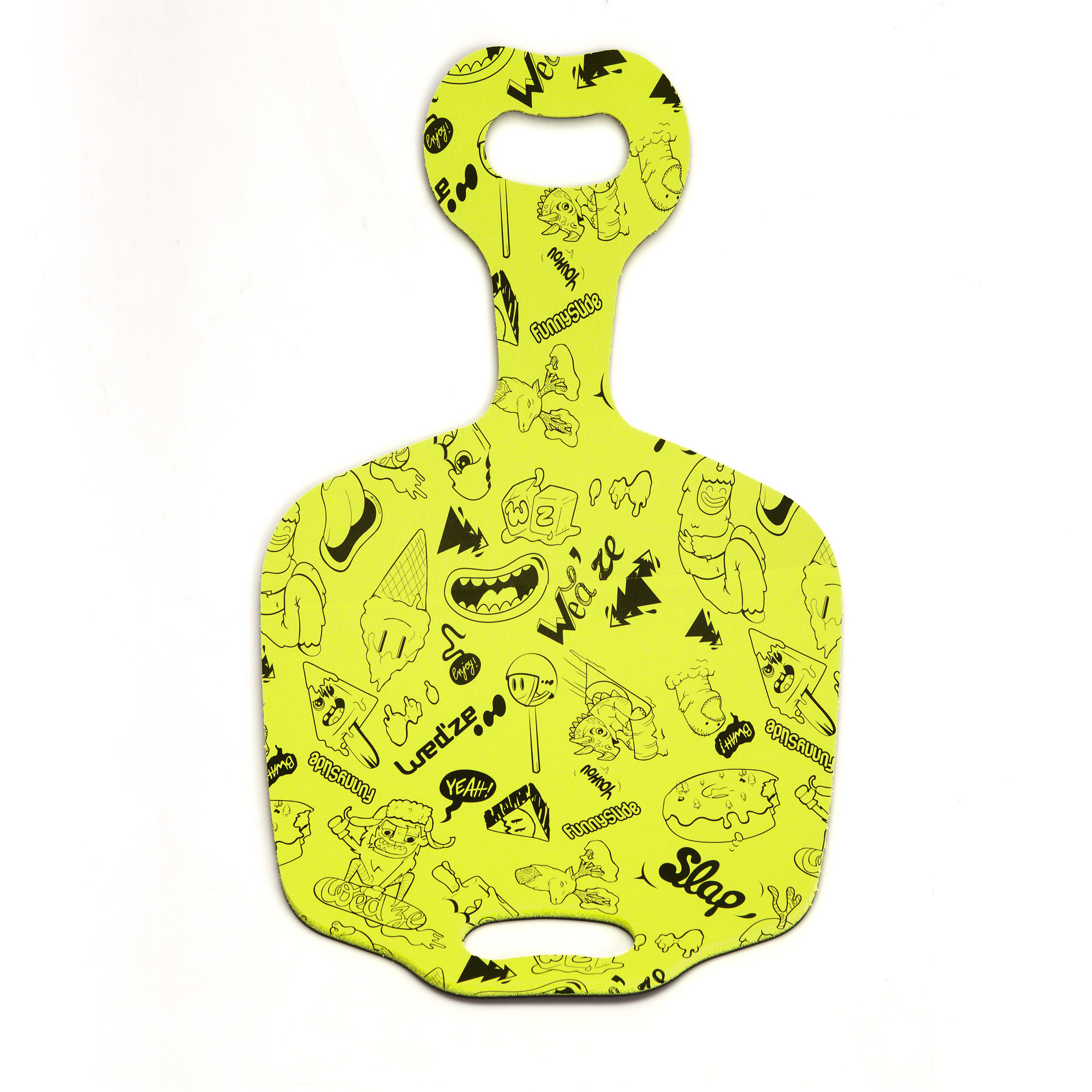 Luge enfant pelle à neige Amuse-glisse jaune
