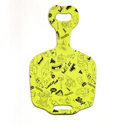Pannenkoekslee Funny Slide geel