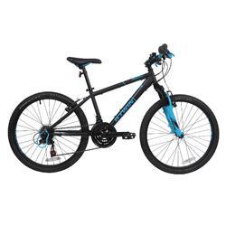 Mountainbike Rockrider 500 24 inch voor kinderen van 8 -12 jaar donkerblauw