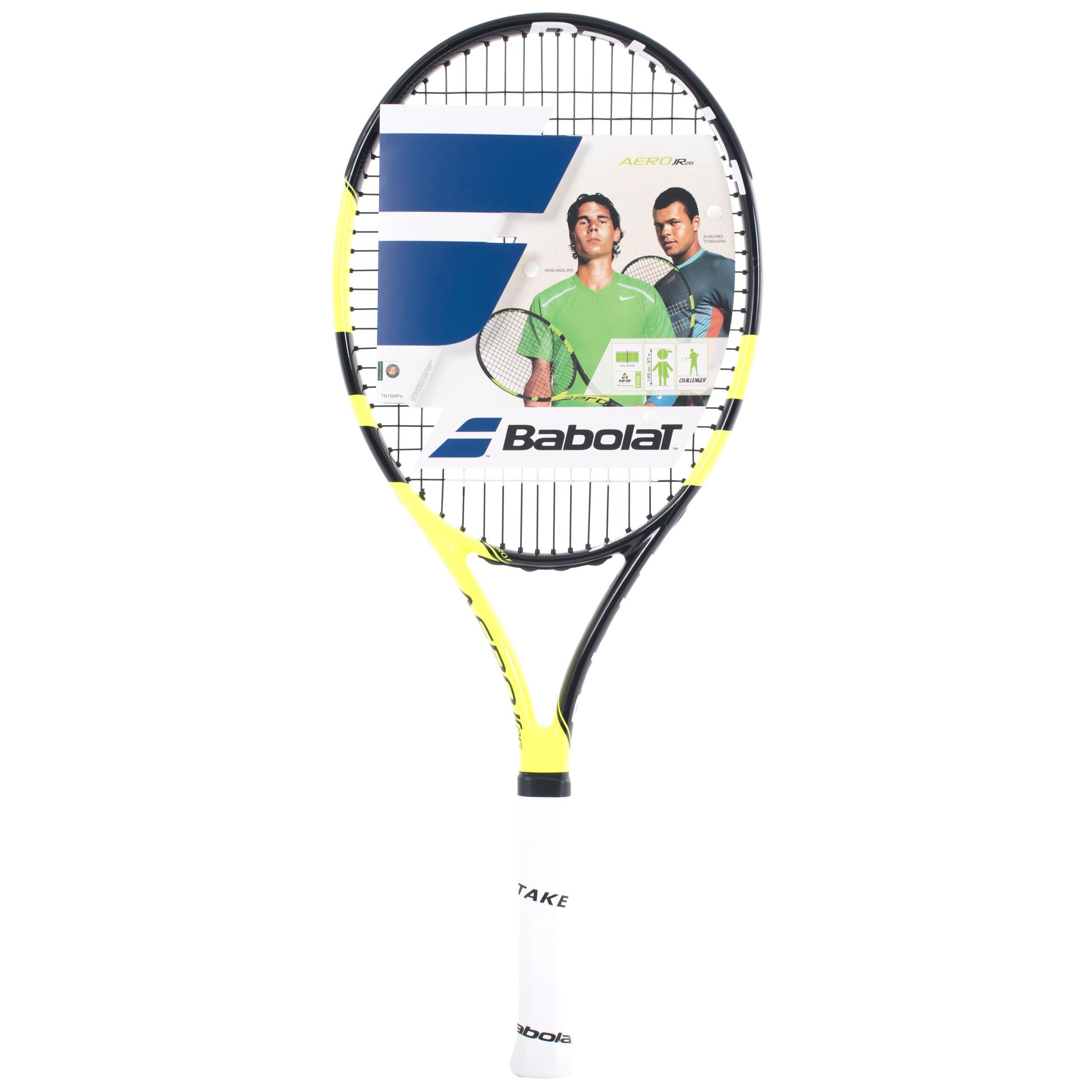 Babolat Tennisracket kinderen Aero 26 inch zwart/geel