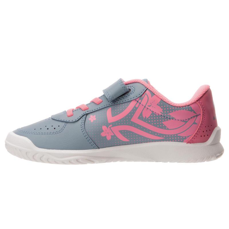 TS130 Kids' Tennis Shoes - Grey/Pink