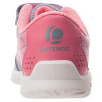 CHAUSSURES DE TENNIS ENFANT TS130 GRIS ROSE ARTENGO