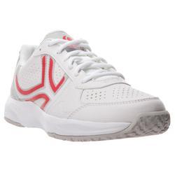 TS830 女款網球鞋 -白色/粉紅色