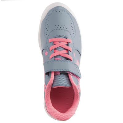 حذاء تنس للأطفال TS730 - رمادي/ وردي اللون