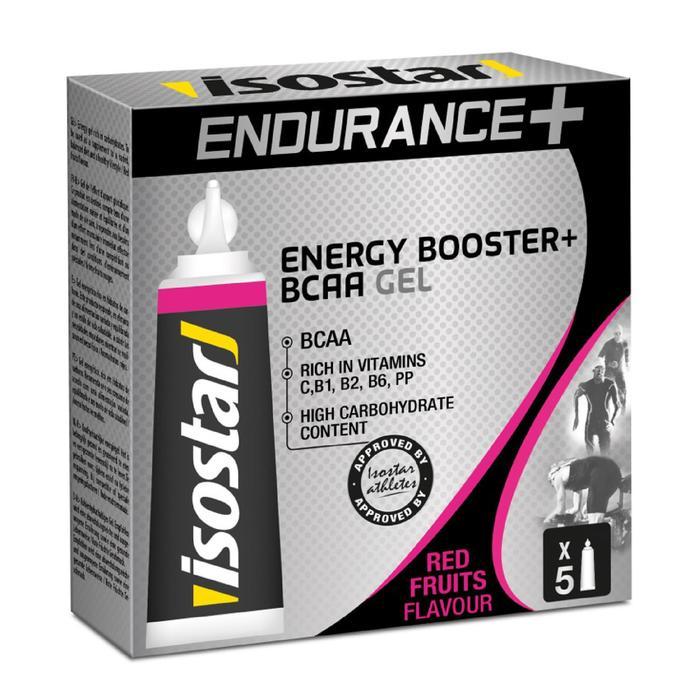 Gel Energético Triatlón Isostar Endurance BCAA Frutos Rojos 5 X 20 G
