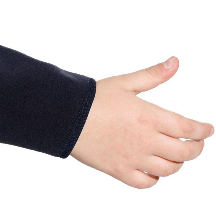 兒童款雙面刷毛航海外套500-深藍色/藍色