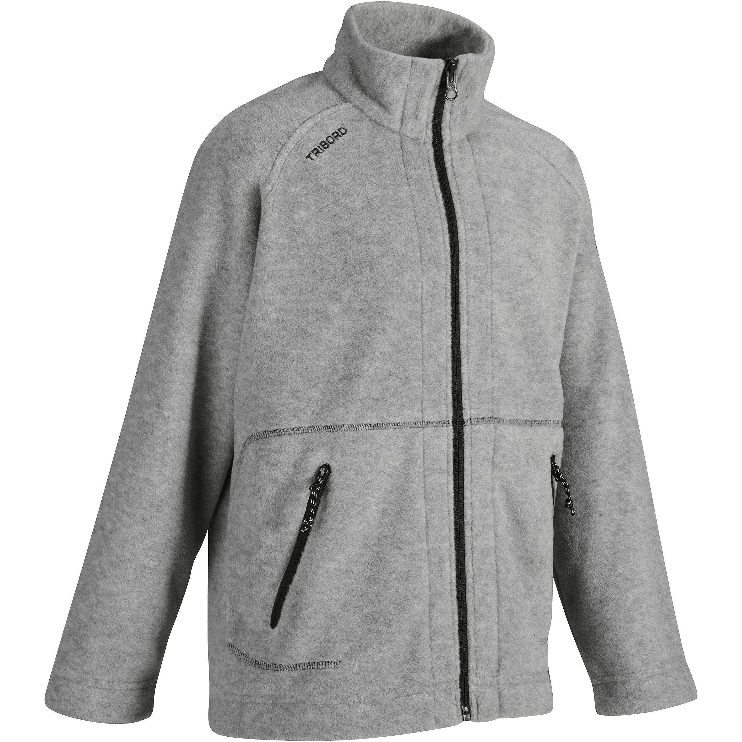 100 Children's Sailing Fleece Jacket - Grey