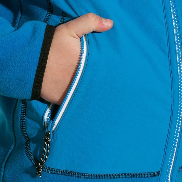 Fleecejacke Segeln 500 wendbar Kinder dunkelblau/blau