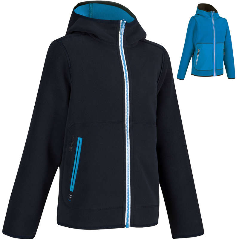 CRUISING RAINY AND COLD WEATHER JR Sailing - 500 Kids' Fleece - Blue/Blue TRIBORD - Sailing Clothing
