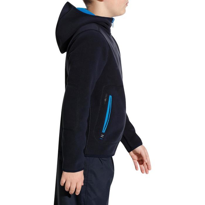 Omkeerbare fleece Zeilen voor kinderen, donkerblauw/blauw