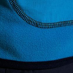 Polaire voile enfant 500 réversible bleu foncé / bleu