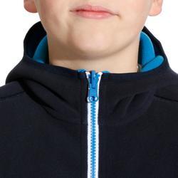 Omkeerbare kinderfleece 500 voor zeilen donkerblauw / blauw