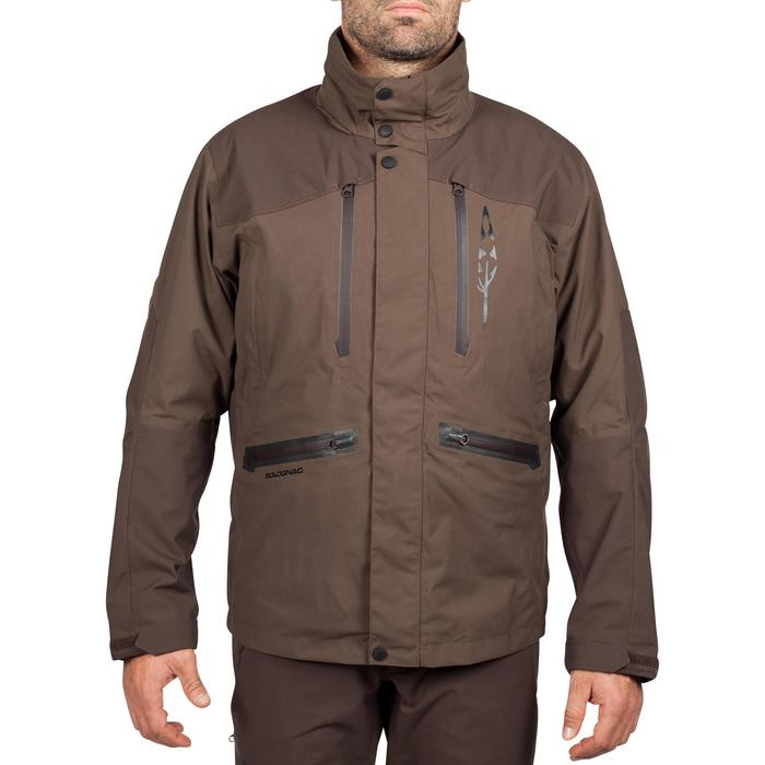 Veste chasse imperméable Renfort 900 marron - 999364