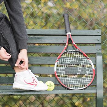 Tennisschoenen voor dames TS 160 wit/roze